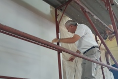 Lavori della pittura a secco di Rupnik