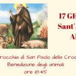 Sant'Antonio Abate: benedizione degli animali
