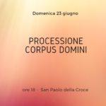 Corpus Domini: processione
